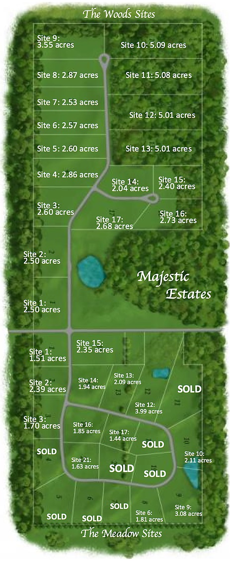 Majestic Estates Available Sites