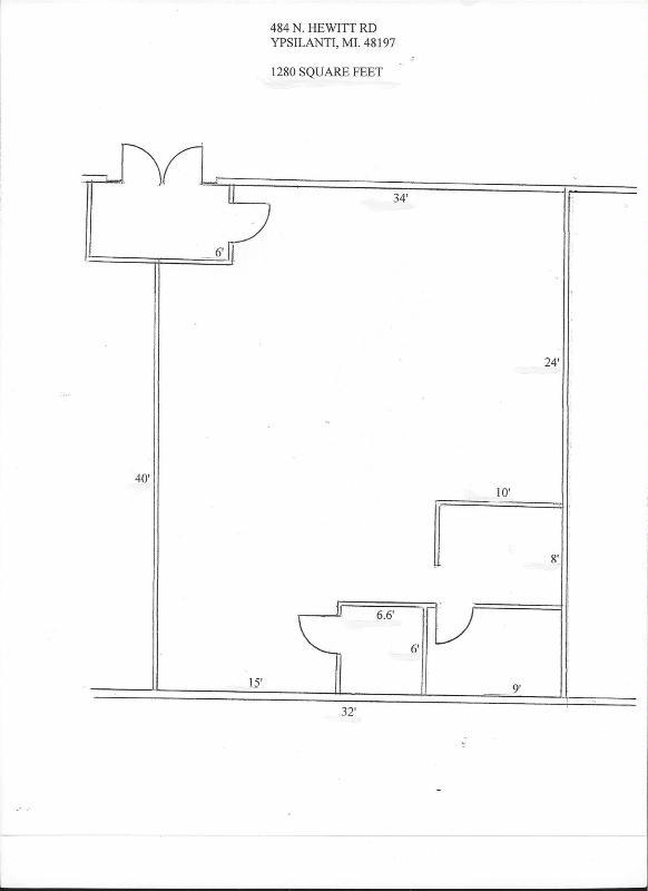 484 Hewitt  North Ypsilanti, MI 48197 by Conlin Company $1,280