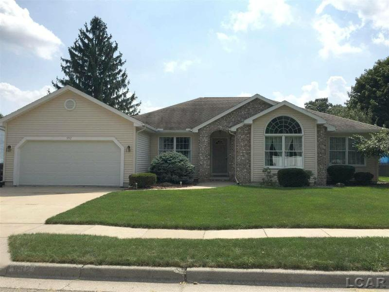 992 Gettysburg Drive Adrian, MI 49221 by The Wagley Group $155,000