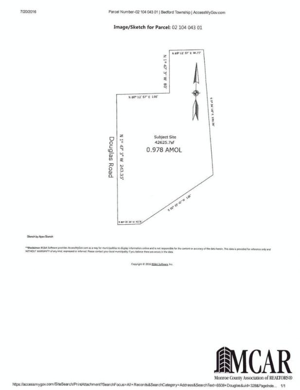 6508 DOUGLAS ROAD Lambertville, MI 48144 by The Danberry Company $129,900