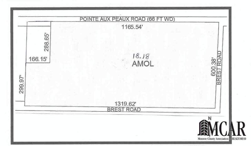 0 POINTE AUX PEAU Newport, MI 48166 by The Laboe Real Estate $127,000