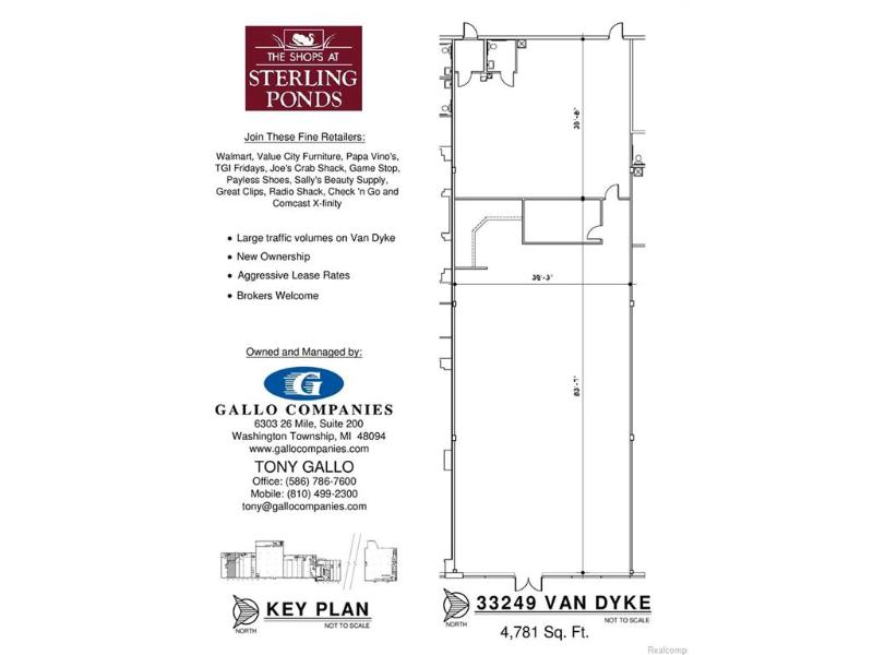 33345 Van Dyke,  Sterling Heights, MI 48312 by Gallo Homes Inc $2,733
