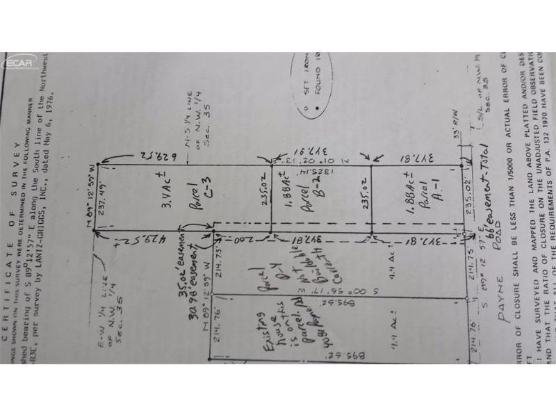 0  Payne Rd,  Bancroft, MI 48414 by Century 21 Looking Glass $23,000