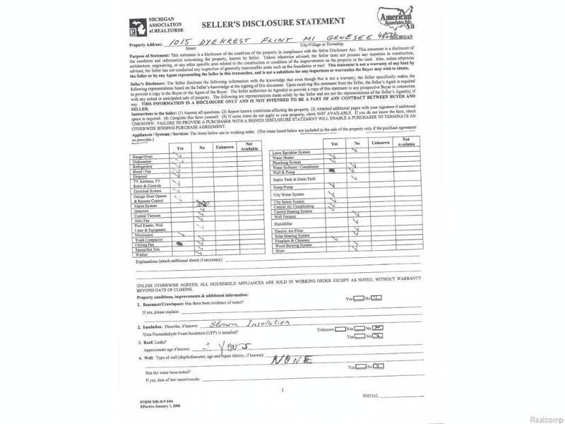 1015 Dyekrest Drive Flint, MI 48532 by American Associates Inc. $139,000