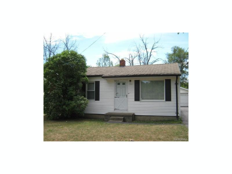 1322  Wells St,  Burton, MI 48529 by American Associates Inc $18,950