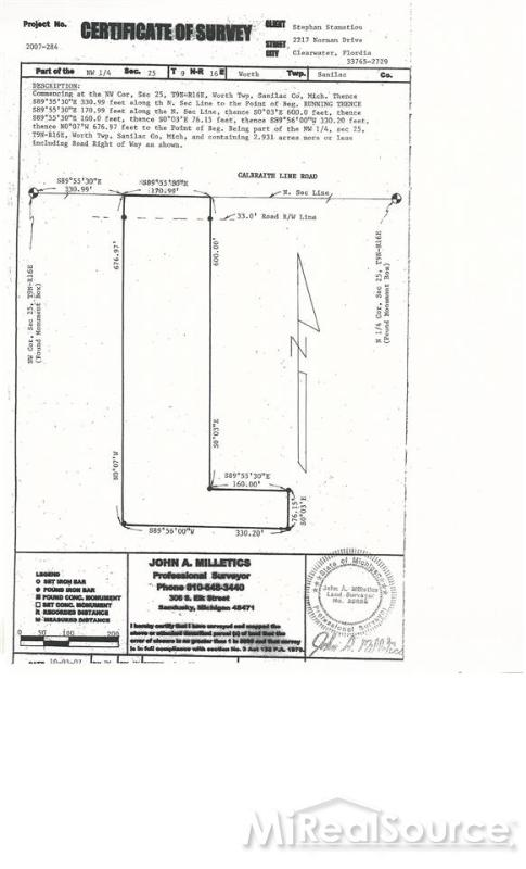 TBD Galbraith Line,  Lexington, MI 48450 by Town & Country Realty-Lexington $33,000