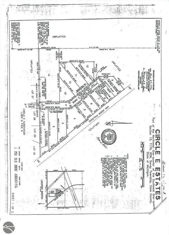 TBD N Circle E,  Farwell, MI 48622 by Century 21 Pioneer $18,000